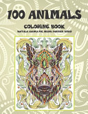 100 Animals   Coloring Book   Buffalo  Guinea Pig  Rhino  Panther  Other