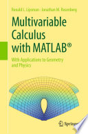 Multivariable Calculus With Matlab  Book PDF
