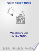 Vocabulary List for the TOEFL