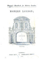 Murray's Handbook for Modern London. Modern London; or, London as it is. [By Peter Cunningham. With plans.]