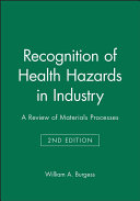 Recognition of Health Hazards in Industry