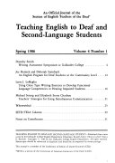 Teaching English to Deaf and Second language Students