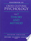 Handbook of Cross-cultural Psychology: Theory and method