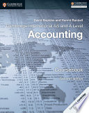 Books - New Cambridge International As & A Level Accounting Second Edition Coursebook | ISBN 9781316611227