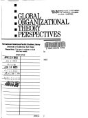 Cover of Global organizational theory perspectives