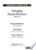 Managing human resources. Instructor&s resource guide