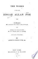 The Works of the Late Edgar Allan Poe  Arthur Gordon Pym   c