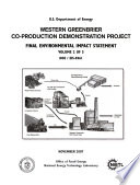 Western Greenbrier Co production Demonstration Project