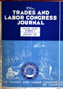 The Trades and Labor Congress Journal Book