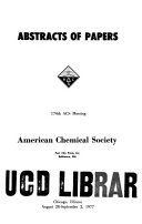 Abstracts Of Papers American Chemical Society Book PDF