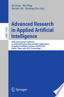 Advanced Research in Applied Artificial Intelligence Book