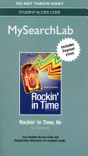 Mysearchlab with Pearson Etext    Standalone Access Code    For Rockin in Time
