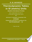 Thermodynamic Tables In Si Metric Units