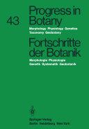 Progress in Botany Fortschritte der Botanik