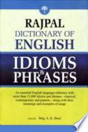 Rajpal Dictionary Of English Idioms Phrases