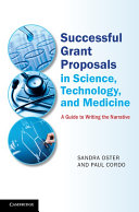 Successful Grant Proposals in Science  Technology  and Medicine