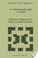 Operator Approach to Linear Control Systems Book