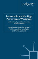Partnership and the High Performance Workplace