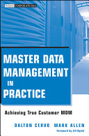 Pdf Master Data Management in Practice Telecharger
