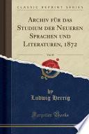 Archiv Für Das Studium Der Neueren Sprachen Und Literaturen, 1853, Vol. 14 (Classic Reprint)