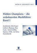 Hidden Champions - die unbekannten Marktführer - Band 1