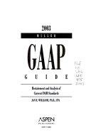 Miller GAAP Guide 2003
