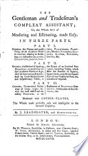 The Gentleman And Tradesman S Compleat Assistant Or The Whole Art Of Measuring And Estimating Made Easy By J Leadbeater And Assistants