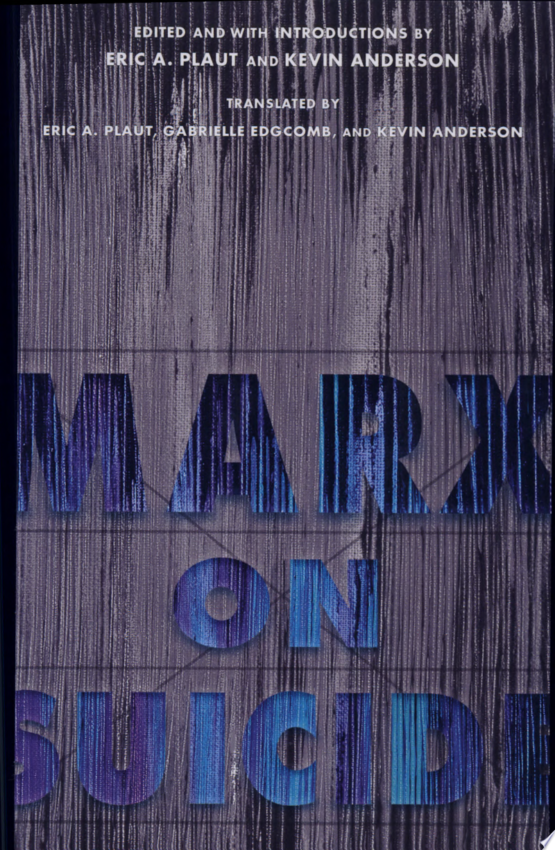 Marx on Suicide banner backdrop