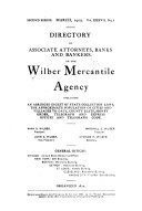 Directory of Associate Attorneys of the Wilber Mercantile Agency
