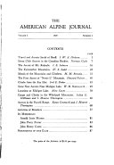 The American Alpine Journal Book