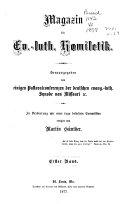 Magazin für ev.-luth. Homiletik und Pastoraltheologie