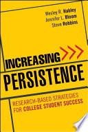 Increasing Persistence Book PDF