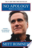 """""""No Apology: The Case for American Greatness"""" by Mitt Romney"""