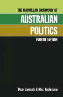 Macmillan Dict Australian Politics