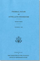 Federal Rules of Appellate Procedure, with Forms, December 1 2012
