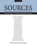 Sources for the History of Western Civilization  Volume I