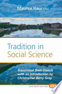 Tradition in Social Science