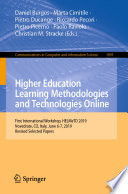 Higher Education Learning Methodologies and Technologies Online