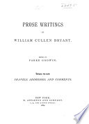 The Life and Works of William Cullen Bryant