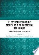 Electronic Word of Mouth as a Promotional Technique