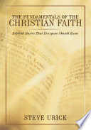 The Fundamentals of the Christian Faith