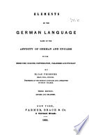 Elements of the German Language...
