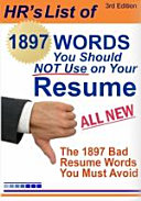 1897 Words You Should Not Use on Your Resume