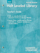 Elements of Literature  Holt Leveled Library  Fourth Course