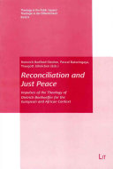Pdf Reconciliation and Just Peace Telecharger