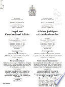Proceedings of the Standing Senate Committee on Legal and Constitutional Affairs