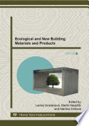 Ecological and New Building Materials and Products