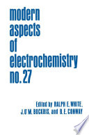 Modern Aspects of Electrochemistry Book