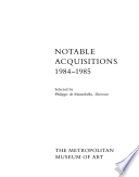 Notable Acquisitions  1984 1985