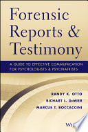 Forensic Reports and Testimony Book